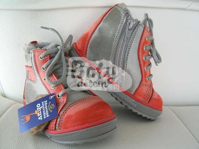 aebe0619f3f Zimní kožená obuv SANTÉ N730 Červená - v nabídce značky Befado-Demar ...