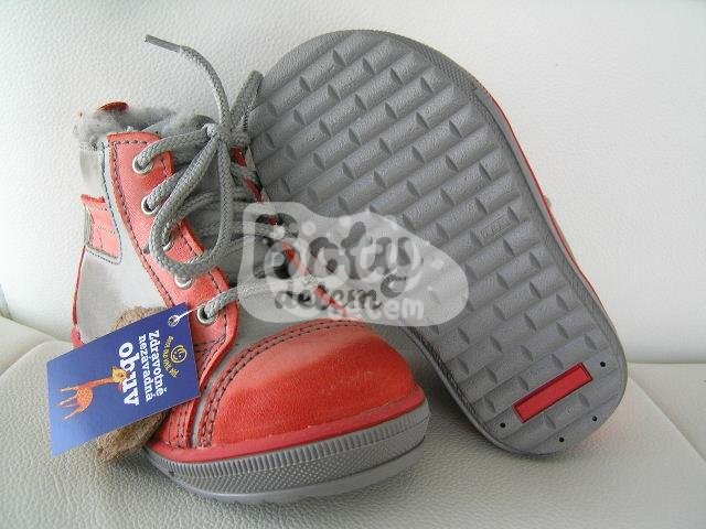 Zimní kožená obuv SANTÉ N730 Červená - v nabídce značky Befado-Demar ... dfd4302e551