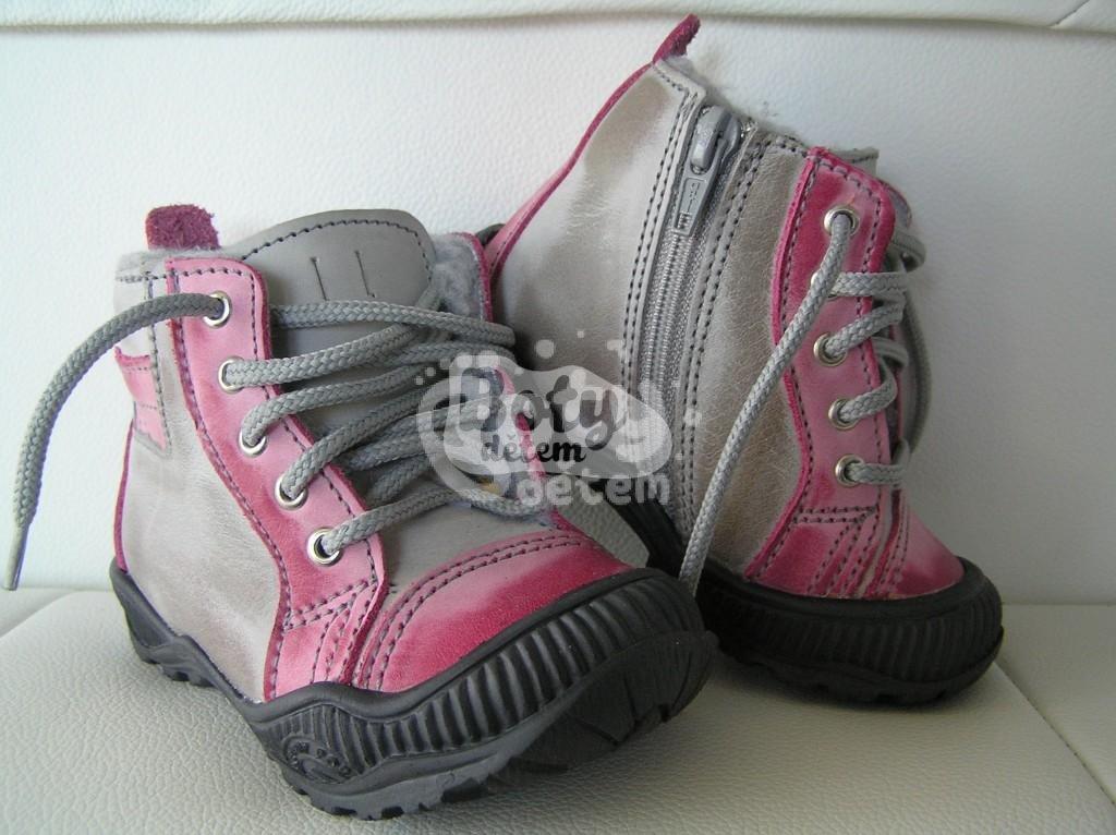 373089b60c0 Zimní kožená obuv SANTÉ N730 Růžová - v nabídce značky Befado-Demar ...