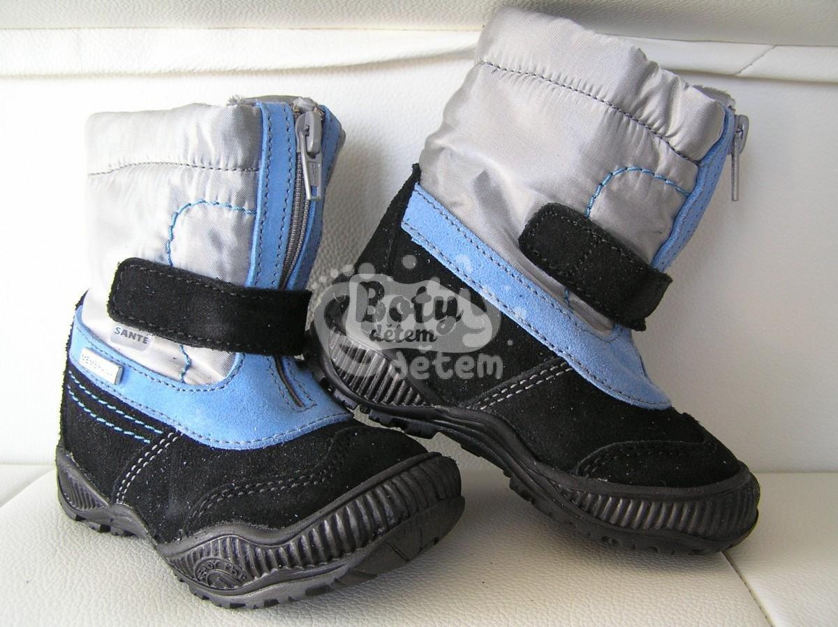 40083a7557d Zimní obuv s membránou SANTÉ N SNOWTOP Modrá - v nabídce značky ...