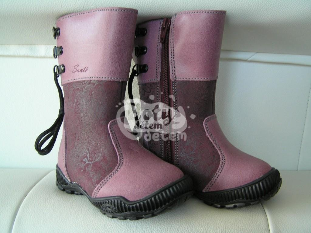 Zimní kožená obuv SANTÉ N TOP Tmavě fialová - v nabídce značky ... 2e93583d47