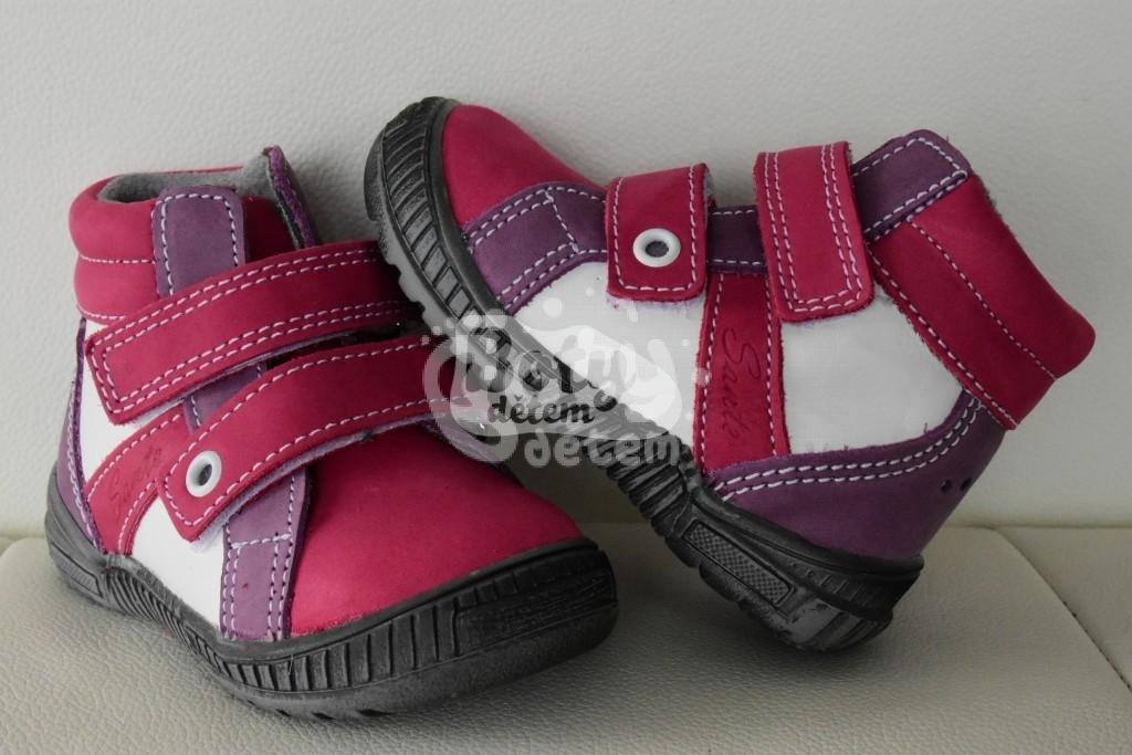 Celoroční kožená obuv SANTÉ LONDON 201 73 74 10 Růžová - v nabídce ... d0ebe70fa4