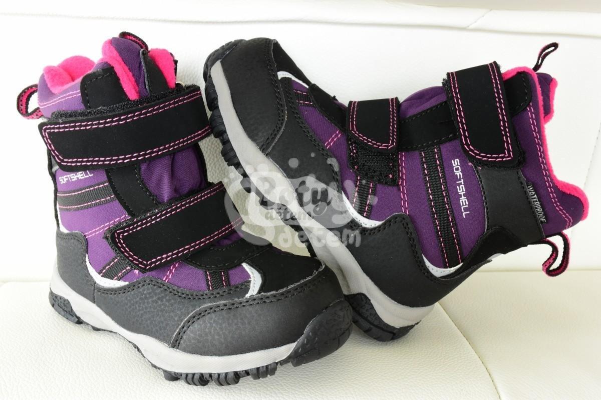 Zimní softshellová obuv s membránou Junior League fialová - v ... 09ebe1ceeb