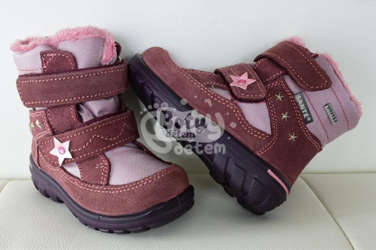 7ac3acb87db Zimní obuv s membránou SANTÉ OR 10500 Ortenisa růžová - v nabídce ...