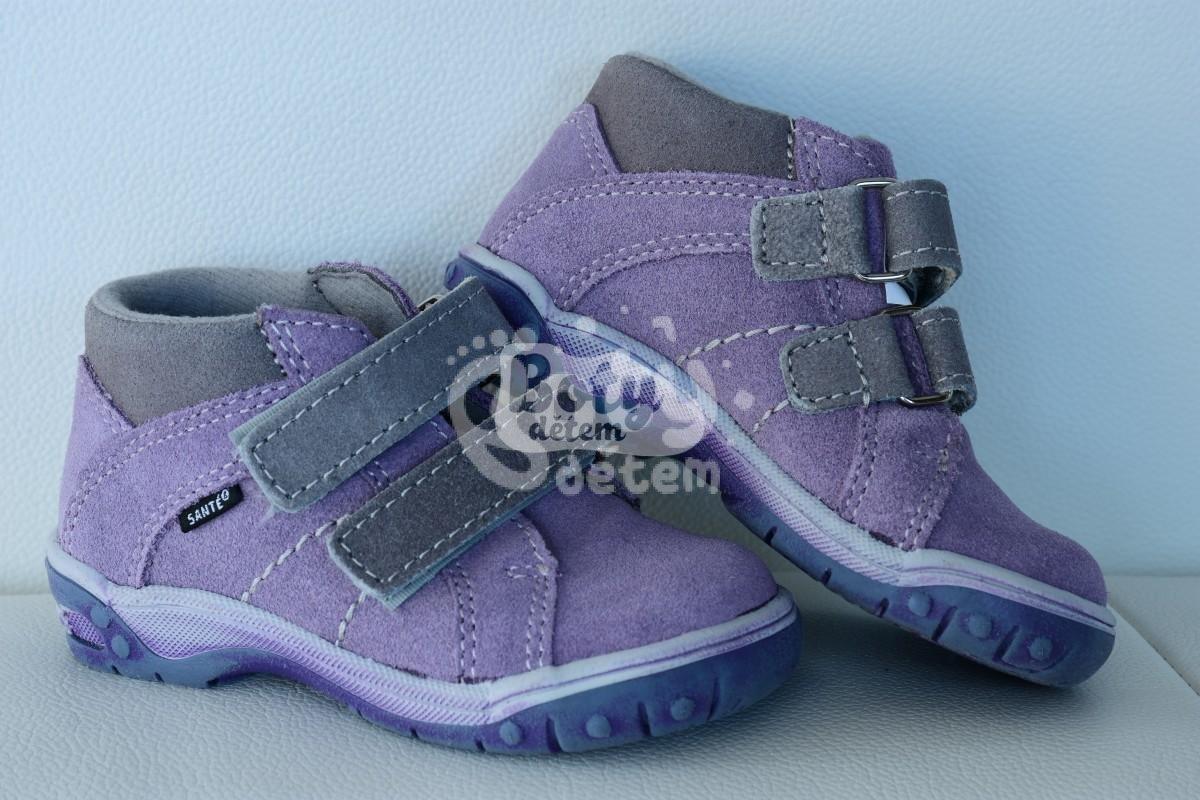 74793b7948b Celoroční kožená obuv SANTÉ HP 4830 Šedo-fialová - v nabídce značky ...