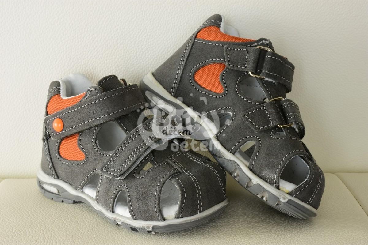 27d577d97ad6 Sandálky SANTÉ HP 4838 Šedo-oranžová - v nabídce značky Befado-Demar ...