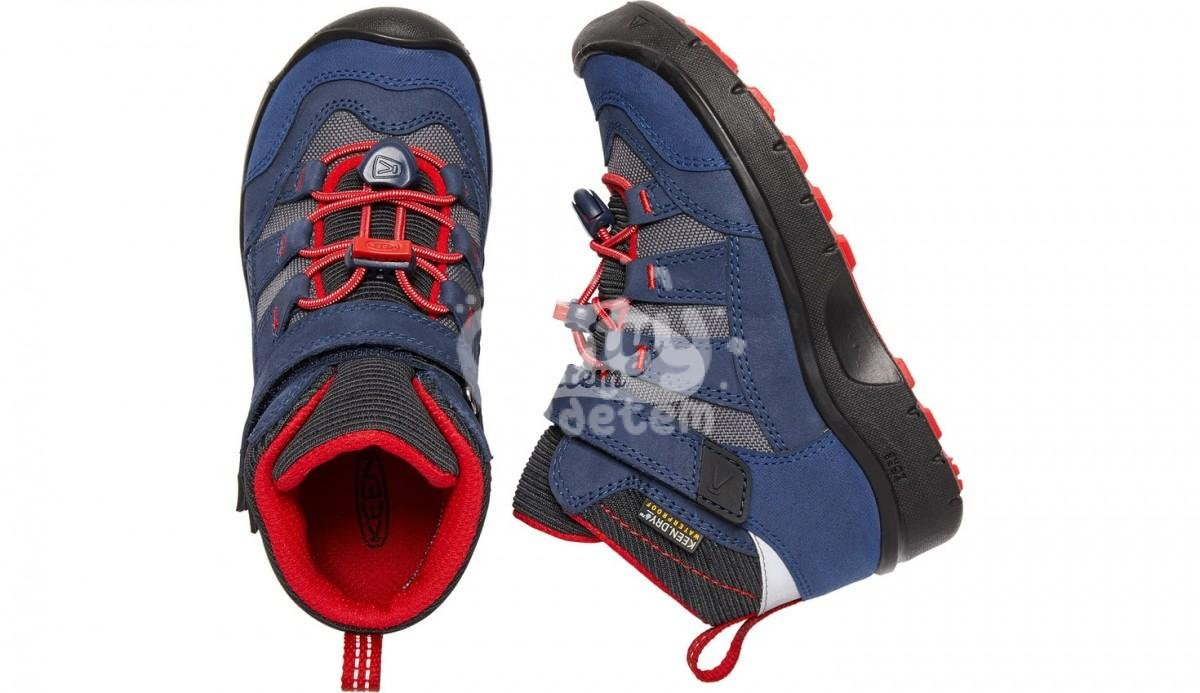 Boty KEEN Hikeport Mid WP K dress blues/firey red