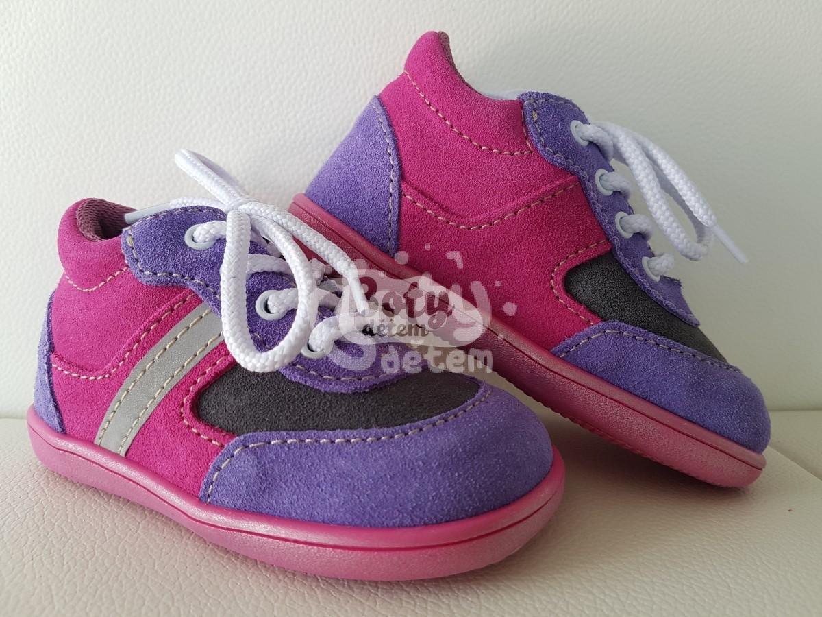 Celoroční kožená obuv Jonap 051 light světle fialová - v nabídce ... ea978efec1