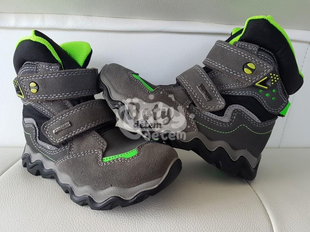 609c6a9b48c Zimní obuv s membránou SANTÉ IC 84588 Grigio-Verde Šedá - v nabídce ...