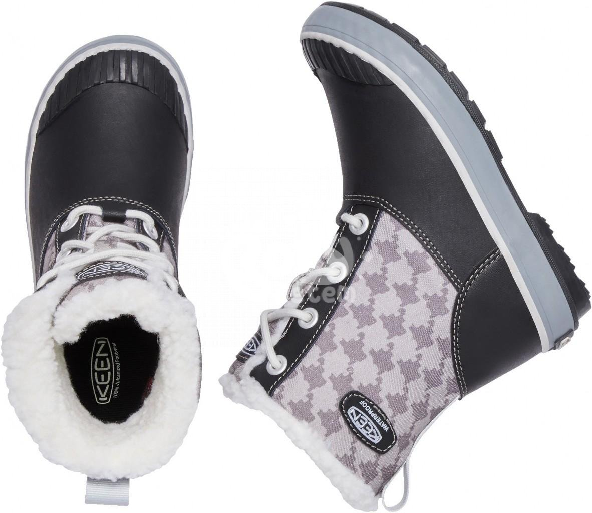 Boty KEEN Elsa Boot WP JR black/houndstooth