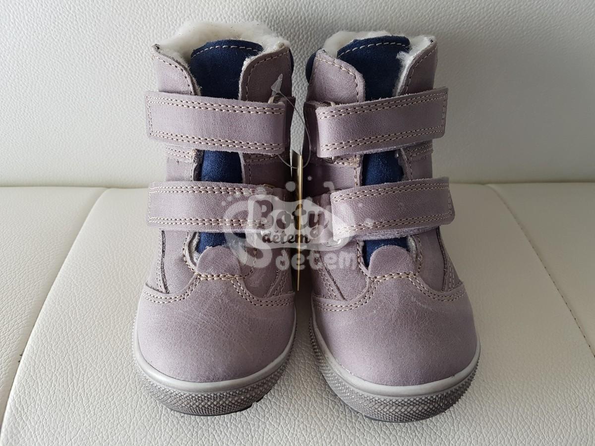 Zimní kožená obuv Jonap 020 N šedo-modrá - v nabídce značky Befado ... fe47709440