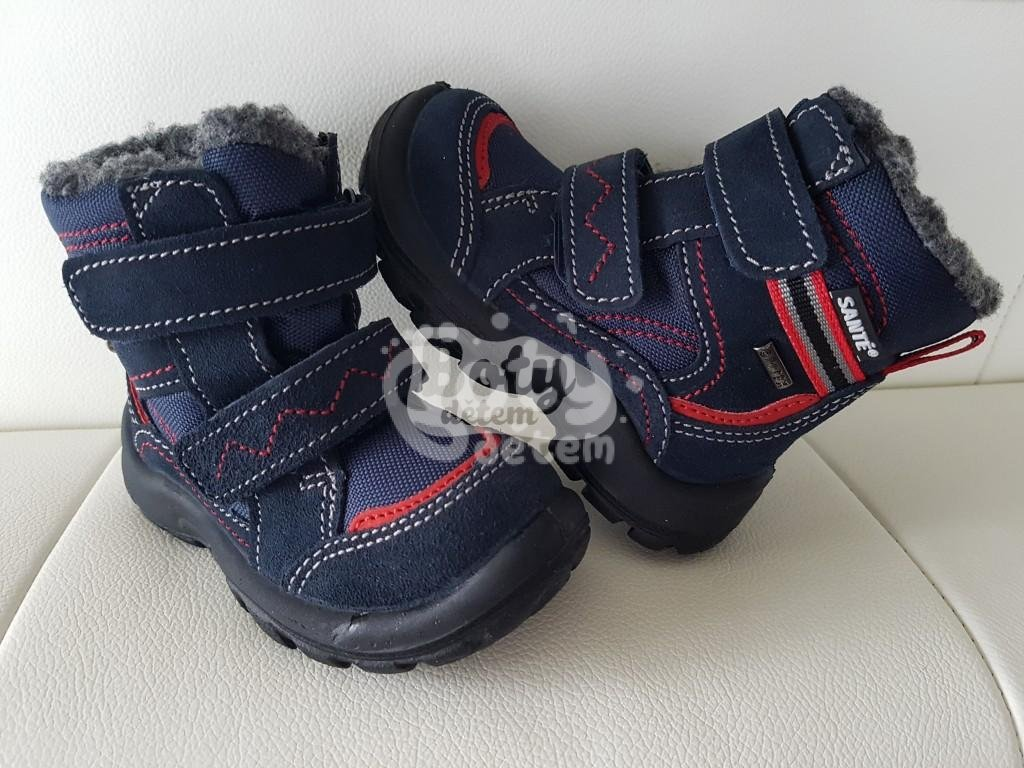 808f75cf2a8 Zimní obuv s membránou SANTÉ OR KS14302 Lontra Modro-červená - v ...