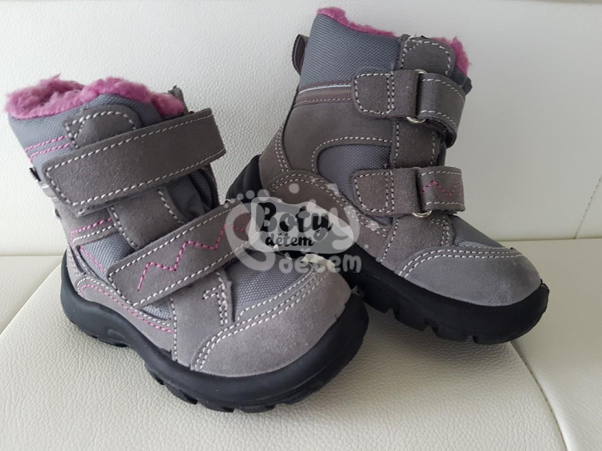 Zimní obuv s membránou SANTÉ OR KS14302 Pepe Šedo-růžová - v nabídce ... ead0675b2a