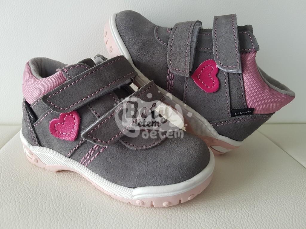 2eeec833b23 Celoroční kožená obuv SANTÉ HP 4912B Šedo-růžová - v nabídce značky ...