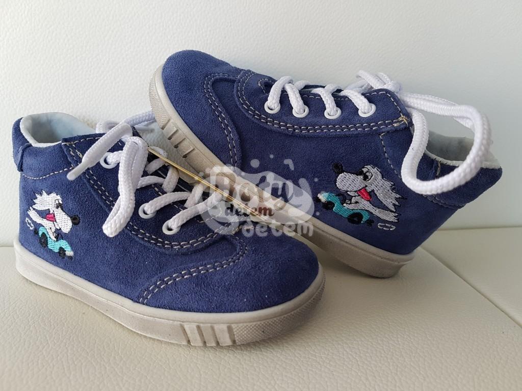 Jonap kožené boty 011 S modrá fík - v nabídce značky Befado-Demar ... e729fd5889