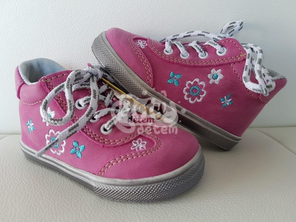 Celoroční kožená obuv Jonap 011 M růžová kytka - v nabídce značky ... 315fe0da9e