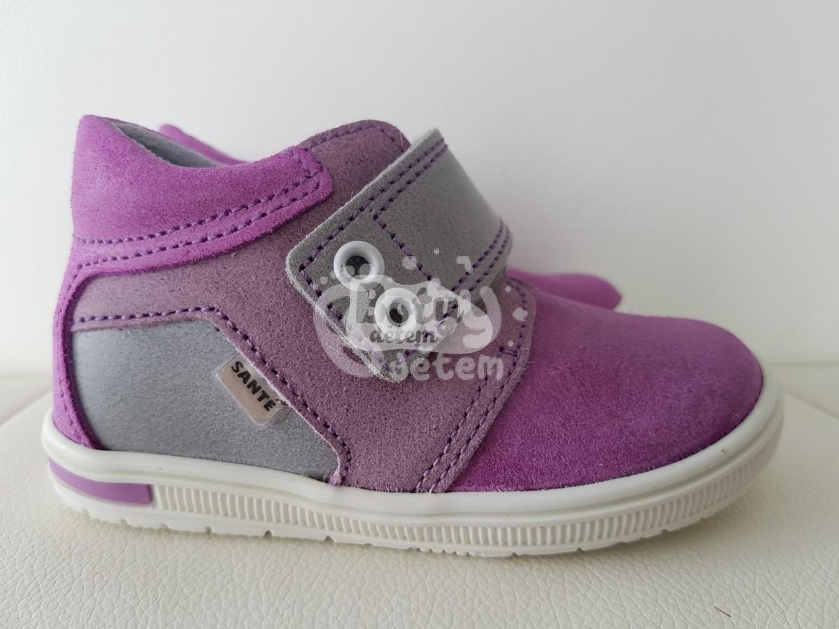 SANTÉ kožené boty N 661 501 075 076 019 Fialovošedé - v nabídce ... 280d64bff3