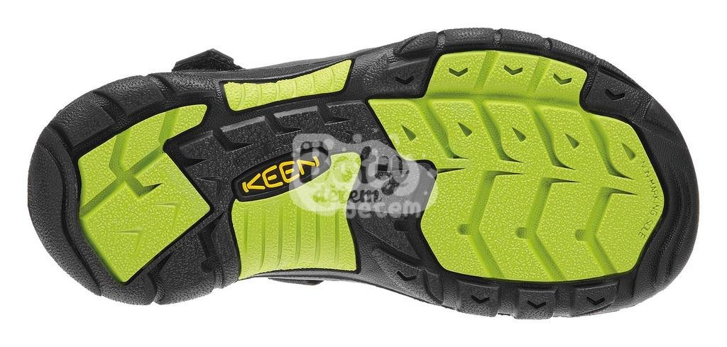 Sandály KEEN Newport H2 K black/lime green