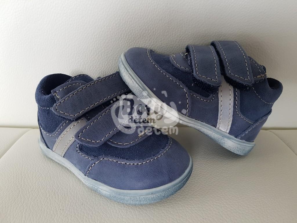 Celoroční kožená obuv Jonap 051 M velcro light modrá - Boty dětem.cz ... 927b89cfb9