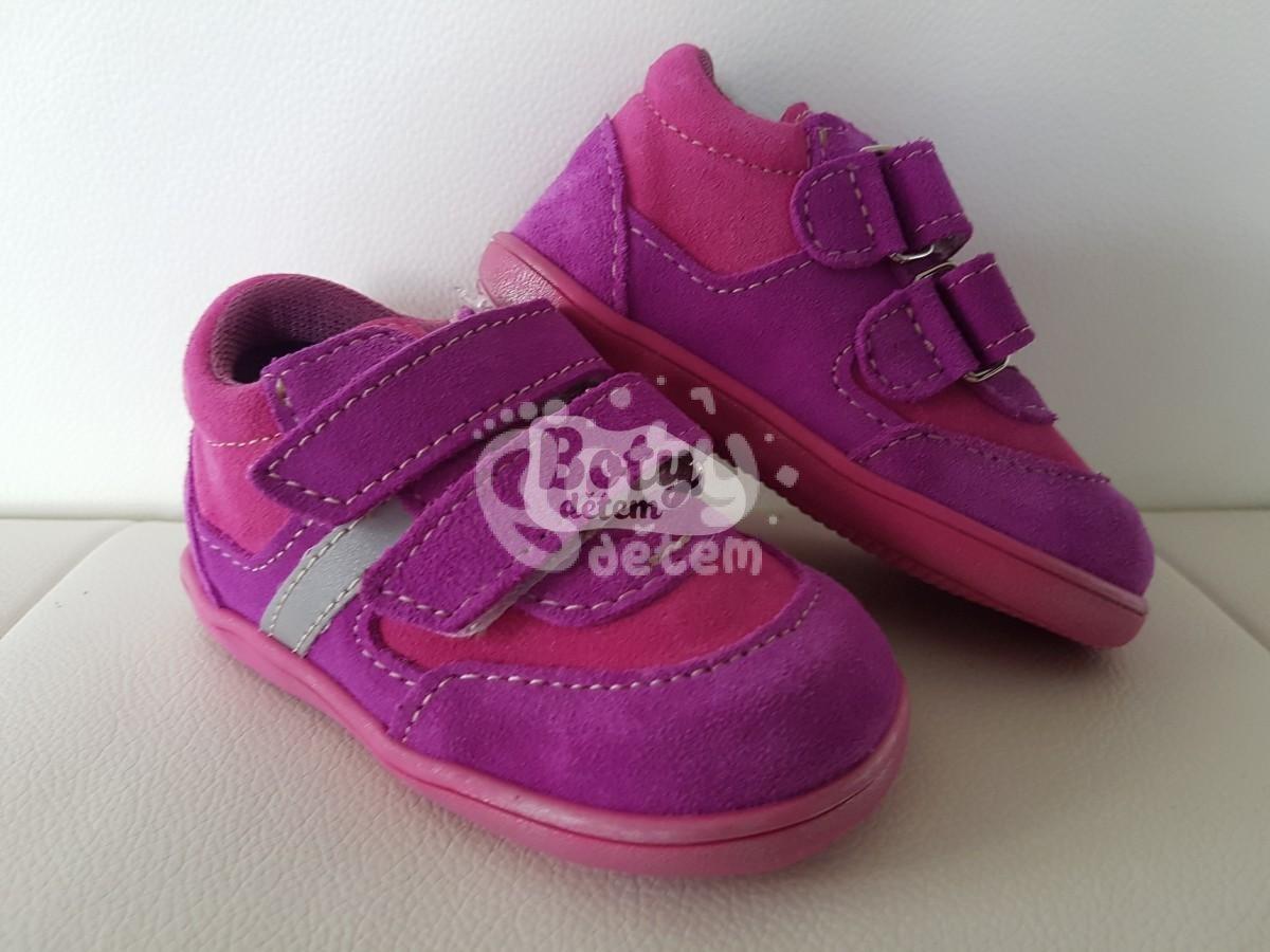 f77e0be00b0 Celoroční kožená obuv Jonap 051 velcro light fialovorůžová - v ...