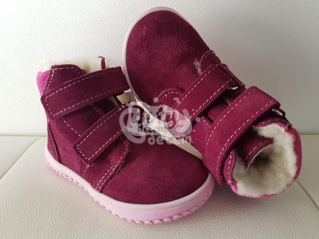 190fa1afe2b Jonap zimní kožené barefoot boty B4 vínová - v nabídce značky Befado ...