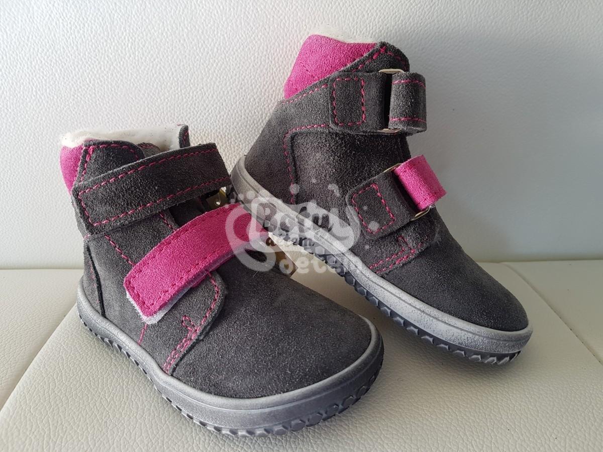 6f361db34b6 Jonap zimní kožené barefoot boty B4 šedá-růžová - v nabídce značky ...