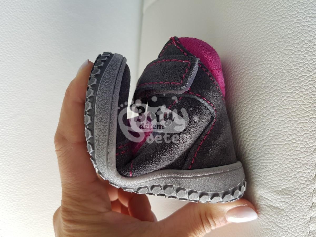 Jonap zimní kožené barefoot boty B4 šedá-růžová - v nabídce značky ... c65ebd6bad