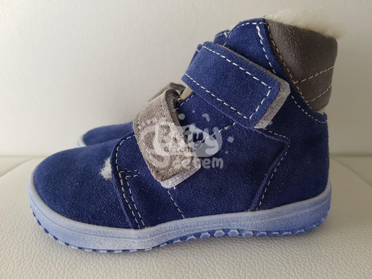 Jonap zimní kožené barefoot boty B4 modrá-šedá - v nabídce značky ... 0d7b4769bc