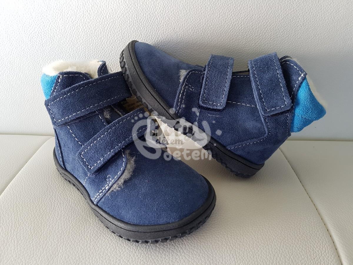 6c4d350cd12 Zimní kožená barefoot obuv B4 modrá-tyrkys - v nabídce značky Befado ...