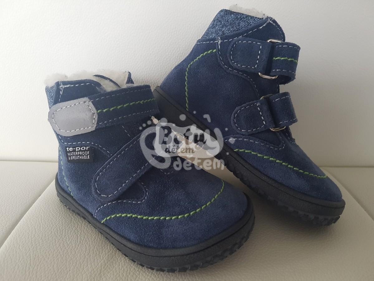 b821cba7dab Jonap zimní kožené barefoot boty s membránou B5 modrá - v nabídce ...