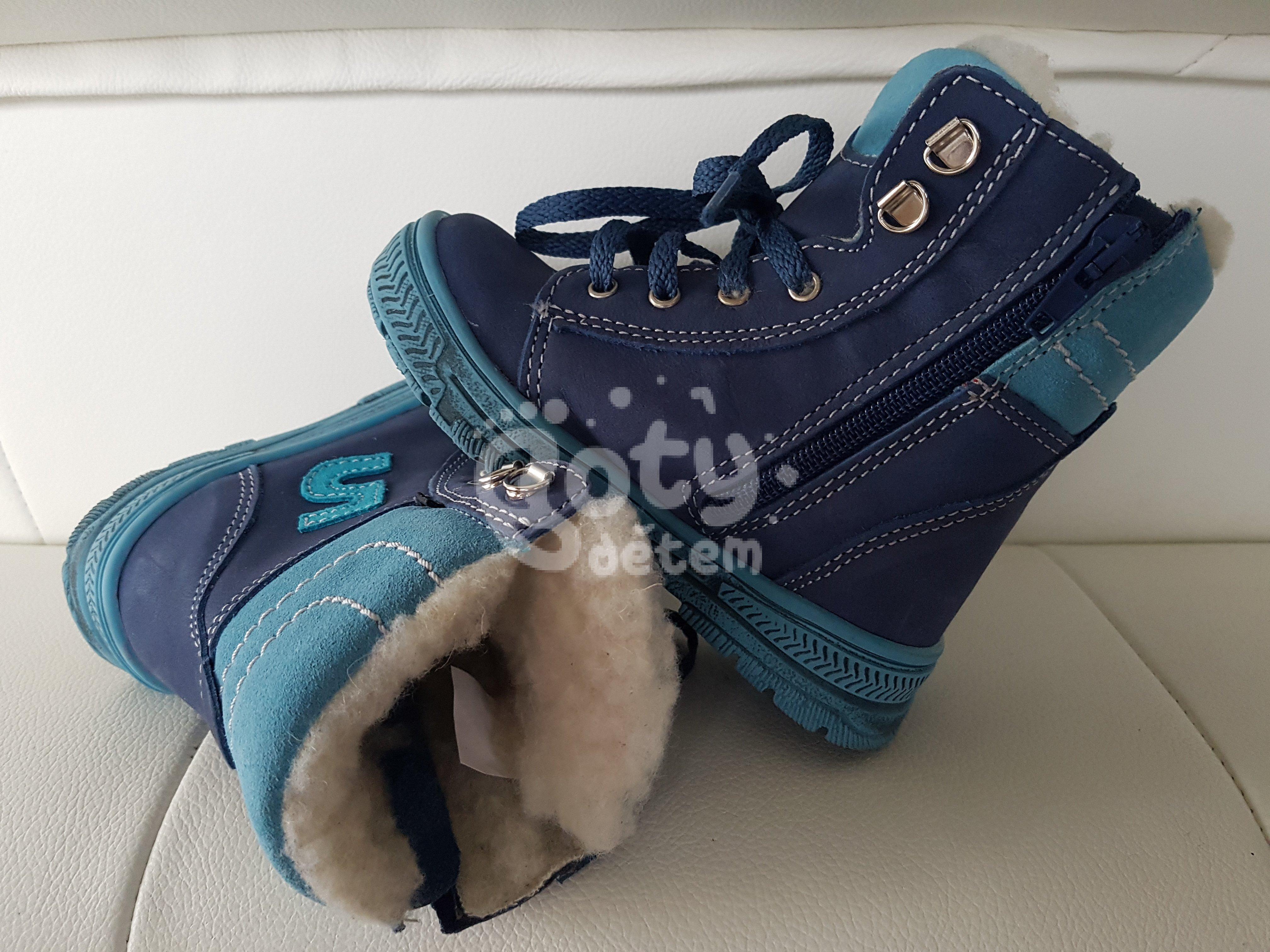 d1a7077f8a1 Zimní kožená obuv SANTÉ HP 4947 Modrá - v nabídce značky Befado ...