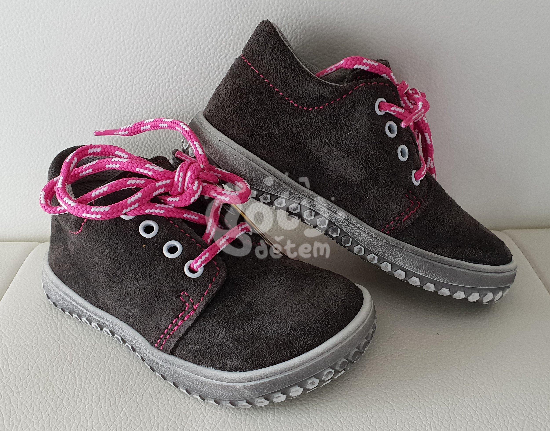 df0a571f2ce Jonap barefoot boty B1 šedá-růžová - v nabídce značky Befado-Demar ...