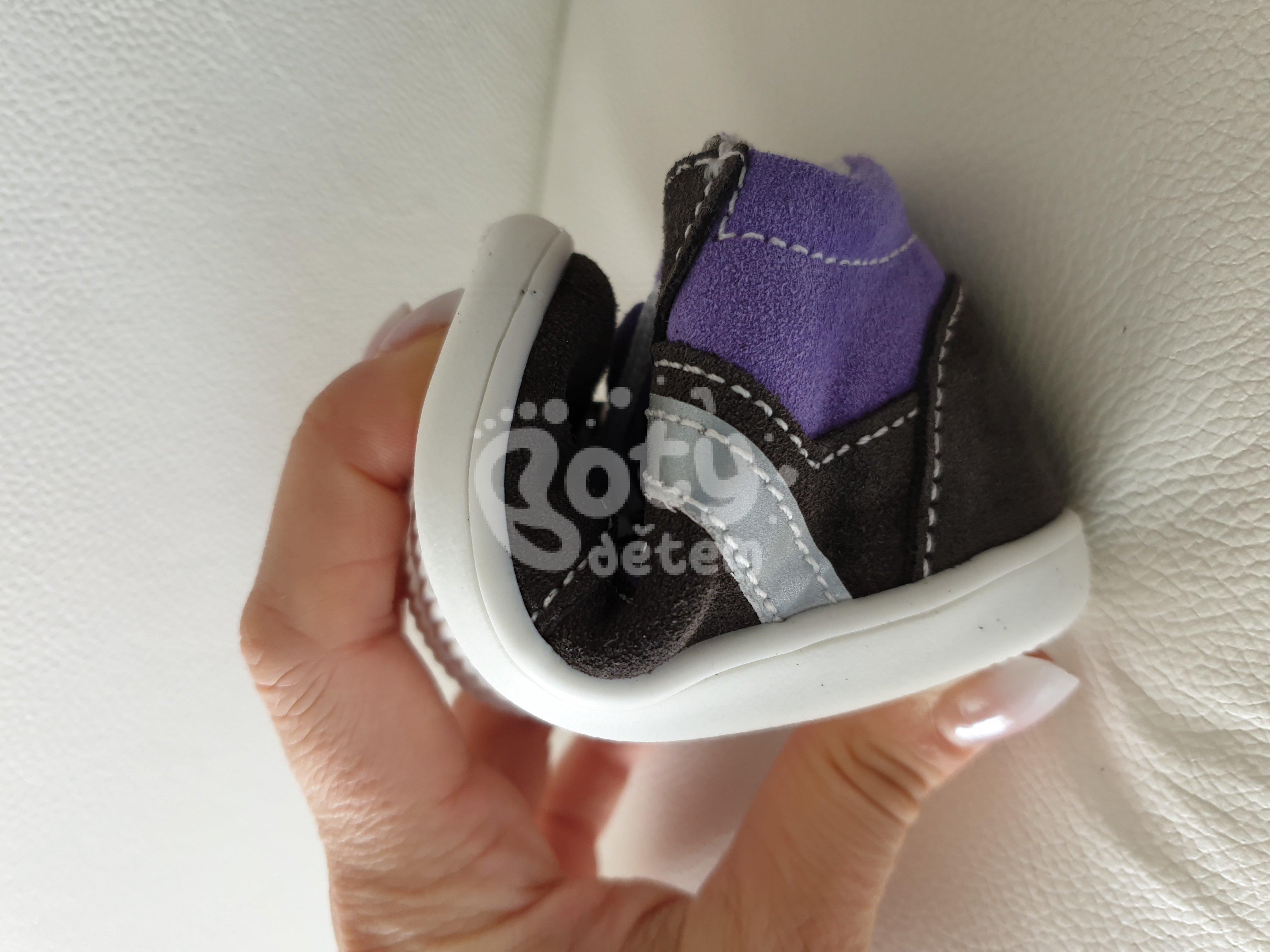 Jonap kožené boty 051 light šedá fialová - v nabídce značky Befado ... 4784af988a