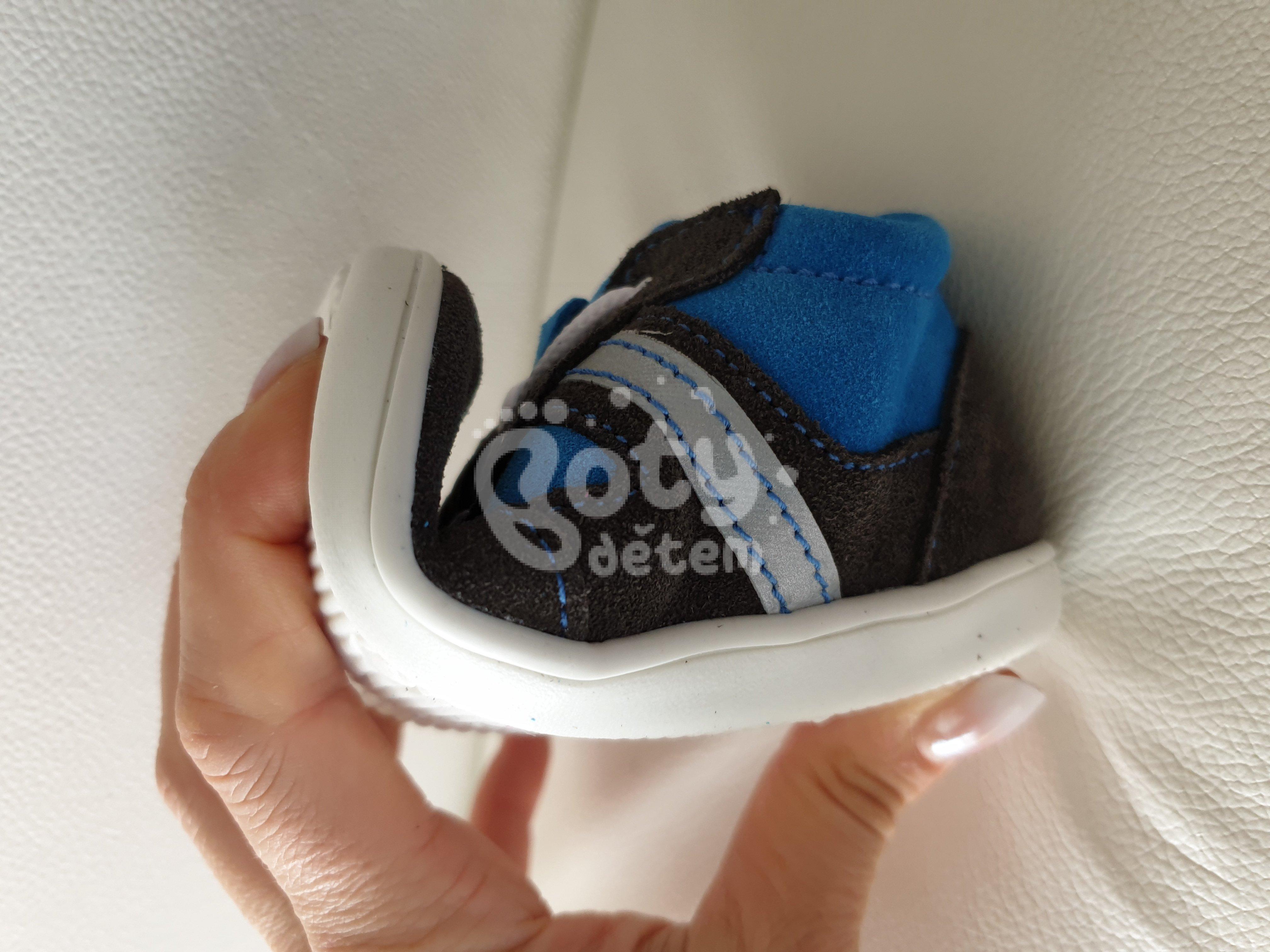 0cab70ce8e1 Celoroční kožená obuv Jonap 051 light šedá tyrkys 2 - v nabídce ...