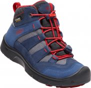 Boty KEEN Hikeport Mid WP JR dress blues/firey red